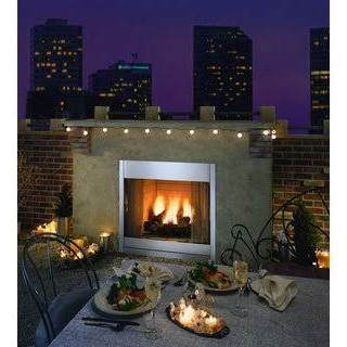 Monessen ODGSR36ARP 36 Inch Outdoor Radiant Vent Free Fireplace In Stainless Steel