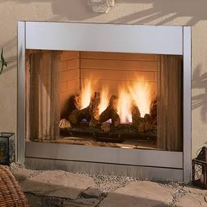 Monessen42 Inch Outdoor Radiant Vent Free Fireplace In Stainless Steel ODGSR42ARP