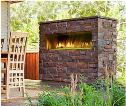 Majestic Palazzo outdoor linear fireplace with IntelliFire ignition Single-Sided - ODPALG-48