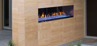 Majestic Outdoor Lifestyles Palazzo Outdoor See-Through Linear Fireplace w/Intellifire Ignition - ODPALGST-48