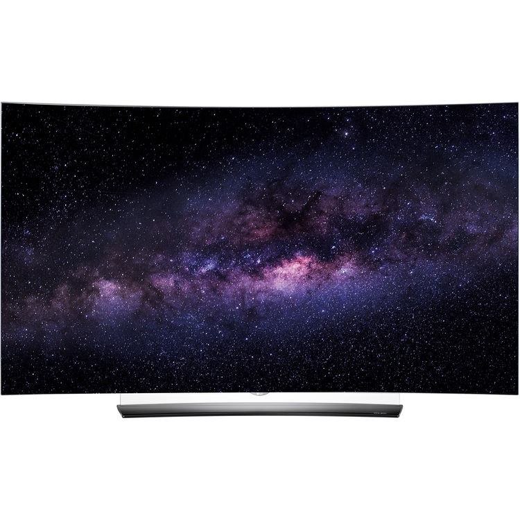 "LG C6P Series 65"" Class 4K Smart Curved 3D OLED TV - OLED65C6P  10 bit   latest version 17 mili sec per frame!! lag free panel"
