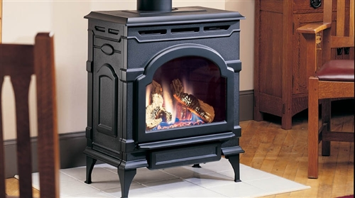 Majestic Oxford Direct Vent Gas Stove In Classic Black Natural Gas - OXDV30NV