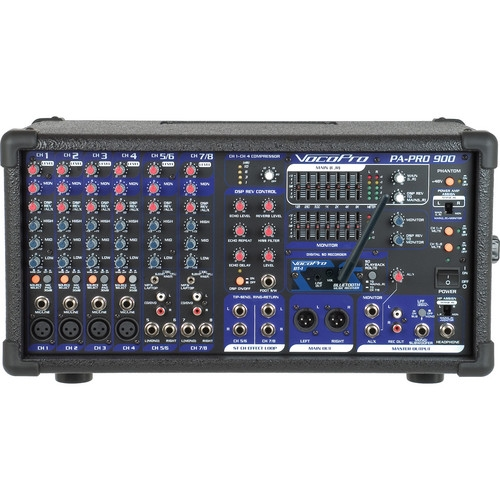 VocoPro BT Professional PA Mixer with Bluetooth Receiver 900W - PAPROBT