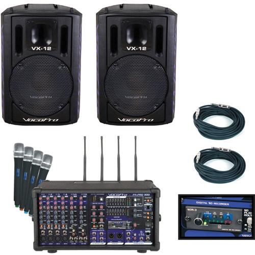 VocoPro 900W Professional P.A. Mixer Package - PA-PRO-TRIO