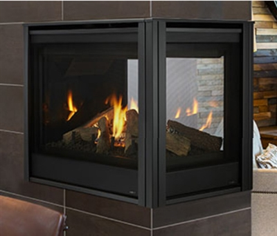 """Majestic Pearl II 36"""" Peninsula Direct Vent Multi Side Top/Rear Gas Fireplace with Intellifire Touch Ignition (NG) - PEARL36PRIN"""