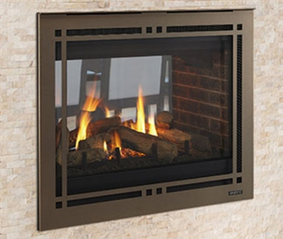 """Majestic Pearl II 36"""" See Through Direct Vent Multi Side Top/Rear Gas Fireplace with Intellifire Touch Ignition (NG) - PEARL36STIN"""
