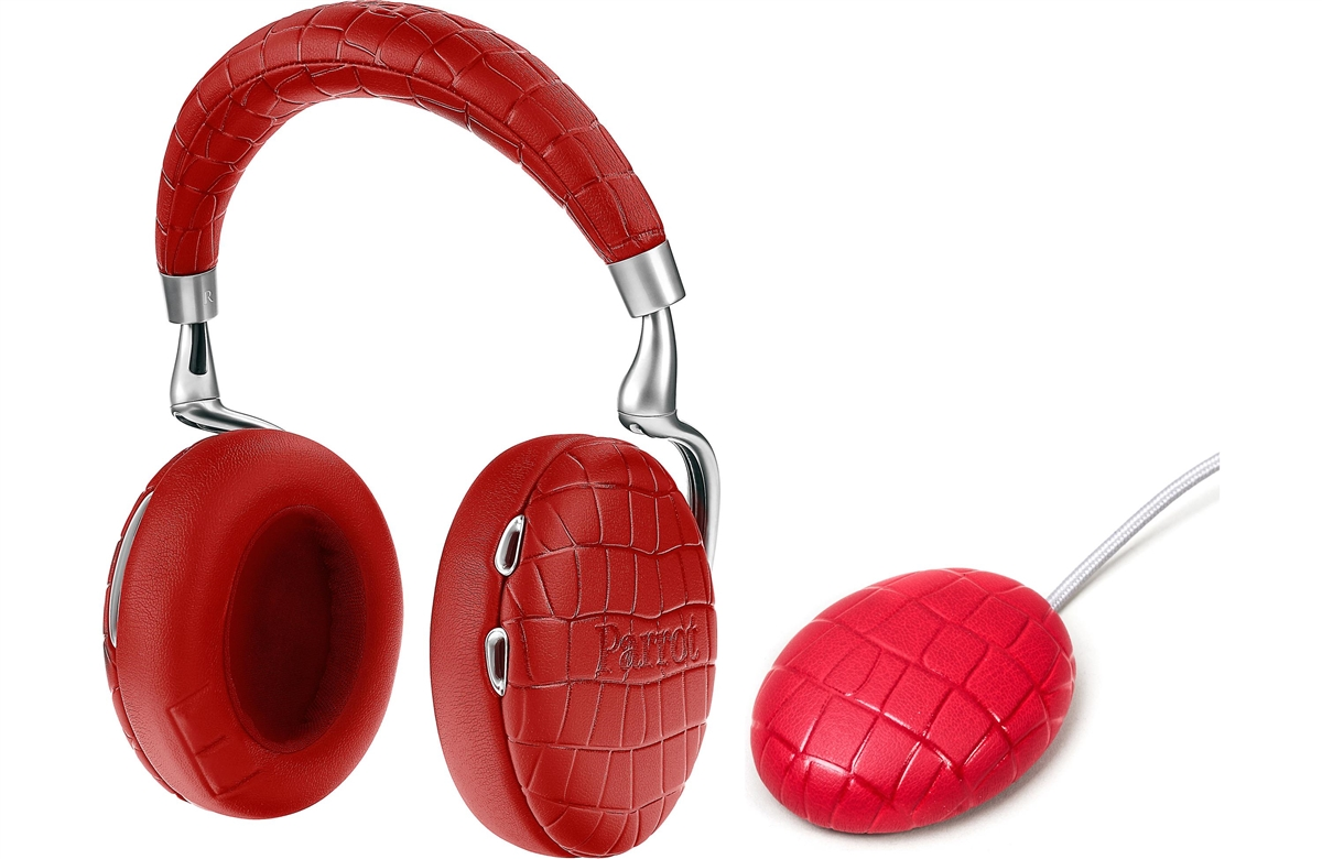 Parrot Zik 3.0 Stereo Bluetooth Headphones & Wireless Charger (Crocodile-Red)  - PF562105   ( COLUMBUS DAY SALE STARTS NOW)