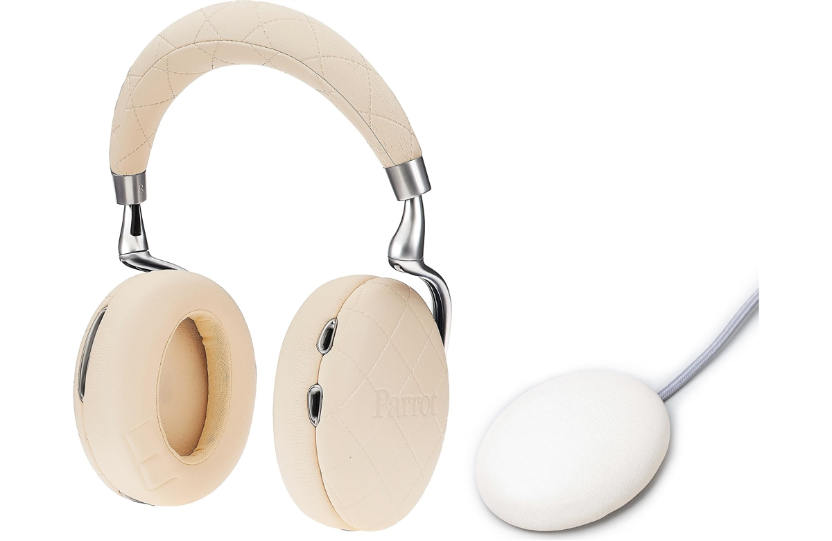 Parrot Zik 3.0 Stereo Bluetooth Headphones & Wireless Charger (Overstitched-Ivory)  - PF562106   ( COLUMBUS DAY SALE STARTS NOW)
