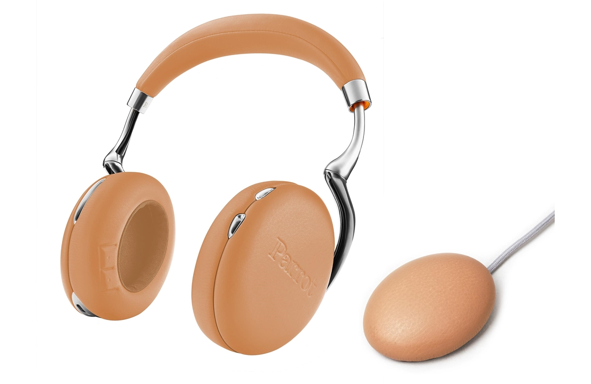 Parrot Zik 3.0 Stereo Bluetooth Headphones & Wireless Charger (Full Grain Leather-Camel)  - PF562107   ( COLUMBUS DAY SALE STARTS NOW)