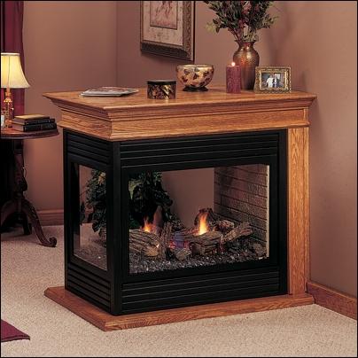 "Majestic 36"" Arlington Peninsula Direct Vent Natural Gas Fireplace - PFLDVNSC"