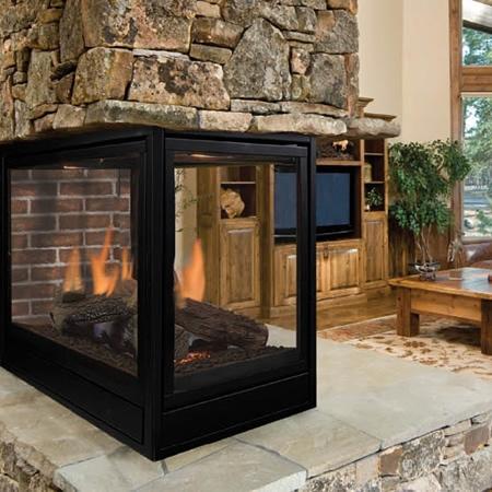 "Monessen Arlington Designer Peninsula Direct Vent Fireplace 36"" PFLDVPNSC"