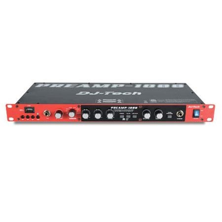 DJ Tech 8 Channel Pre-Amplifier with USB Audio Interface USB - Preamp-1800
