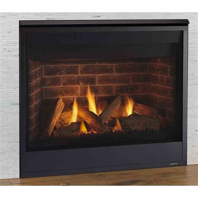 """Majestic Quartz 32"""" Top/rear Direct Vent Fireplace With IntelliFire Ignition (NG) - QUARTZ32IN"""