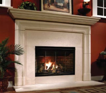 "Majestic Reveal 36"" Radiant Open Hearth B-Vent Gas Fireplace with Intellifire - RBV4236"