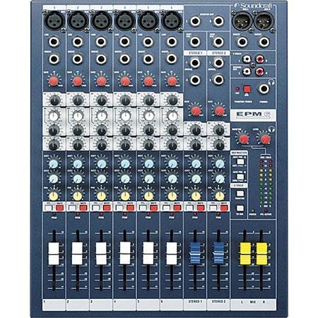 Soundcraft 8-Channel Multi-format Mixer - EPM-8