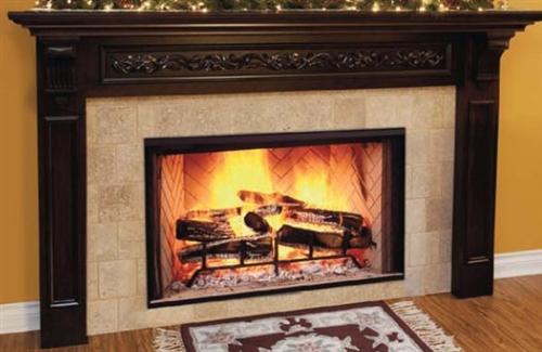 "Majestic Biltmore 38"" Radiant Wood Burning Fireplace - SB38"