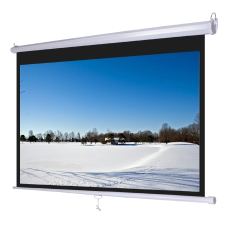 """92"""" Pull-Down Projector Screen (16:9)"""