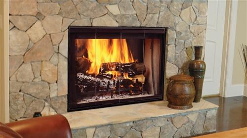 "Majestic Designer See-Thru Series 42"" Radiant Wood Burning Fireplace - SSTB11"