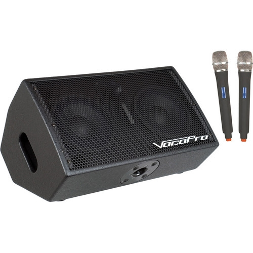 VocoPro 200W 3-Channel Active Vocal Monitor with DSP Effects & SD Recorder - STAGE-MAN-2