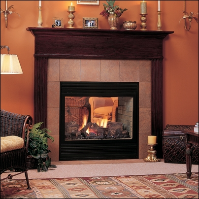 """Majestic 36"""" Direct Vent See-Thru Natural Gas Fireplace - STLDVNSC"""
