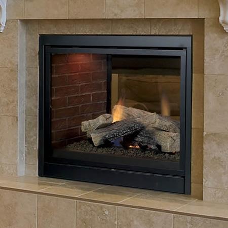 "Monessen Arlington Designer See Through Direct Vent Fireplace 36"" STLDVPNSC"