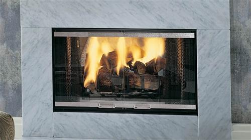 """Majestic See-Thru Designer Series 36"""" Wood Burning Fireplace - STR36"""