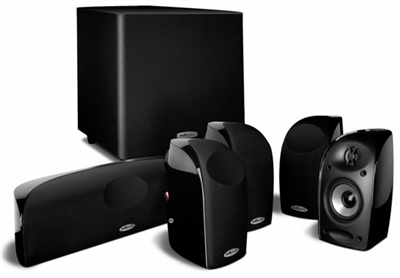 Polk Audio 6-Piece Compact Home Theater System with Powered Subwoofer - TL1600
