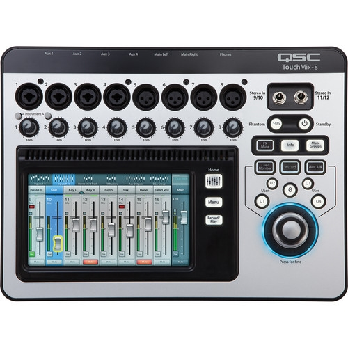QSC TouchMix-8 Compact Digital Mixer with Touchscreen - TOUCHMIX-8
