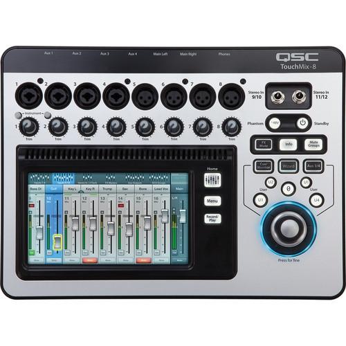 QSC TouchMix-8 Compact Digital Mixer with Touchscreen - TOUCHMIX-8