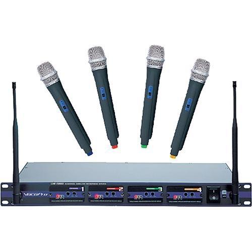 VocoPro PRO 4-Channel UHF Wireless Handheld Microphone System - UHF5800-4