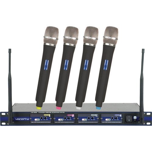 VocoPro PRO 4-Channel UHF Wireless Handheld Microphone System - UHF-5800-5