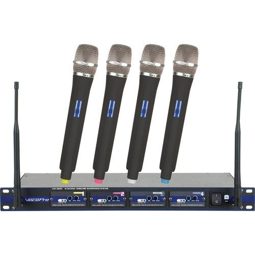 VocoPro PRO 4-Channel UHF Wireless Handheld Microphone System - UHF-5800-6