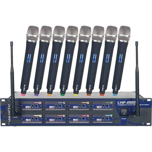 VocoPro 8 Channel UHF Wireless Microphone System - UHF-8800-II