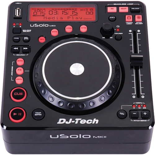 DJ Tech Compact Twin USB Player and Controller - USOLO MKII