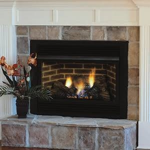 Majestic 24 Inch Vent Free Fireplace System Millivolt Control 28000 BTU Natural Gas traditional style - VFC24LNV