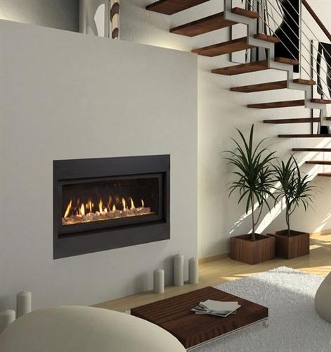 "Monessen 60"" Serenade Top Vent Wide View Direct Vent Fireplace - WDV600TSC"