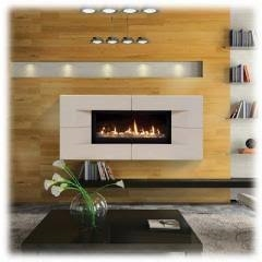 """Majestic Serenade 42"""" Top Vent Wide View Direct Vent Fireplace - WDVP500PTSC"""