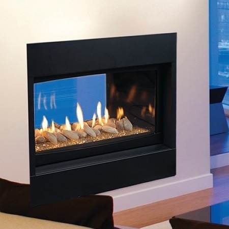 Majestic Echelon See-Thru 42 Inch See Thru Echelon Direct Vent Wide View Fireplace Propane Gas - WDVST500PTSC