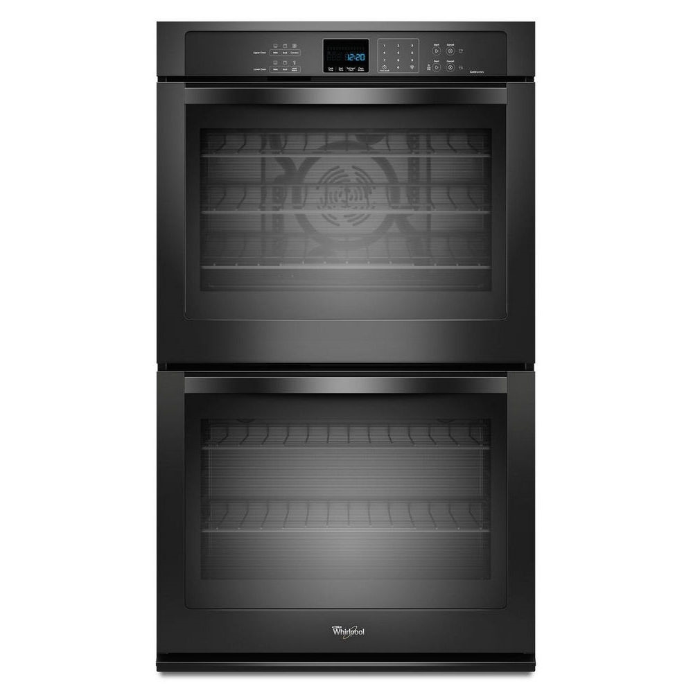 Whirlpool 30 Inch Wide 5.0 cu. ft. Double Wall Oven with the True Convection Cooking Black - WOD93EC0AB