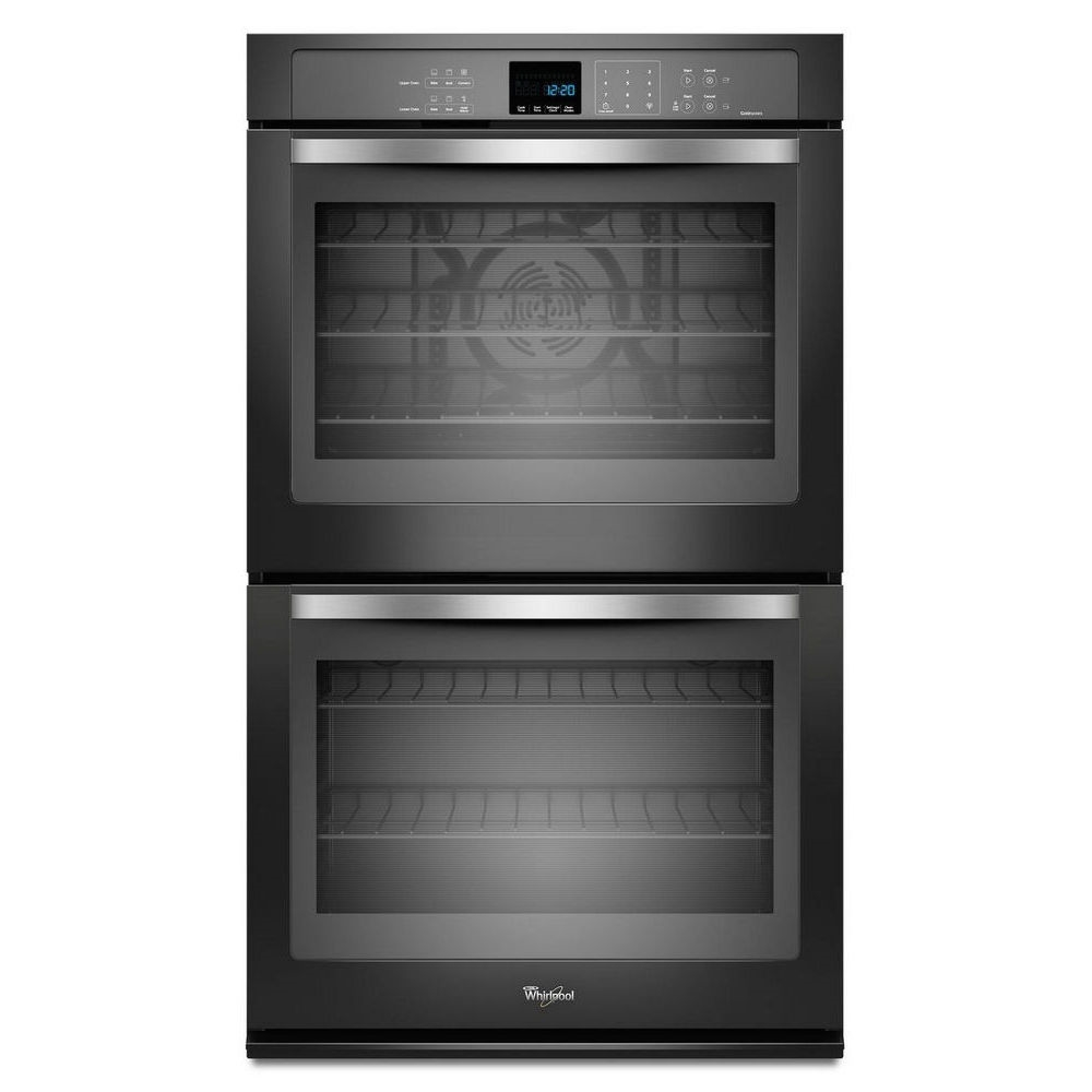 "Whirlpool 30"" Built-In Double Electric Convection Wall Oven Black - WOD93EC0AE"
